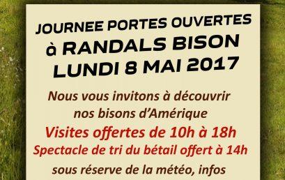Journée Portes Ouvertes à Randals bison le 8 mai