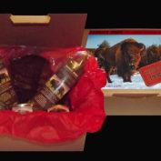 Coffrets-cadeaux de charcuteries de bison pour les fêtes