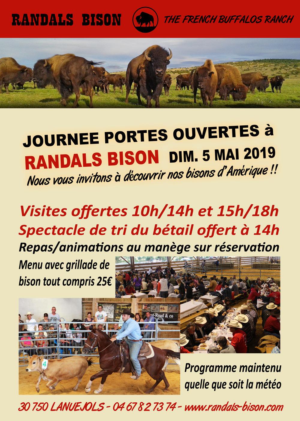 Journée Portes Ouvertes à Randals bison le 5 mai 2019